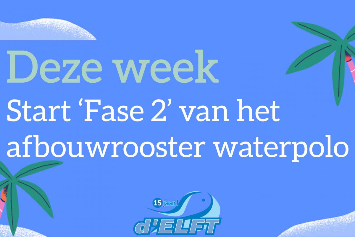 Waterpolo: start 'Fase 2' afbouwrooster
