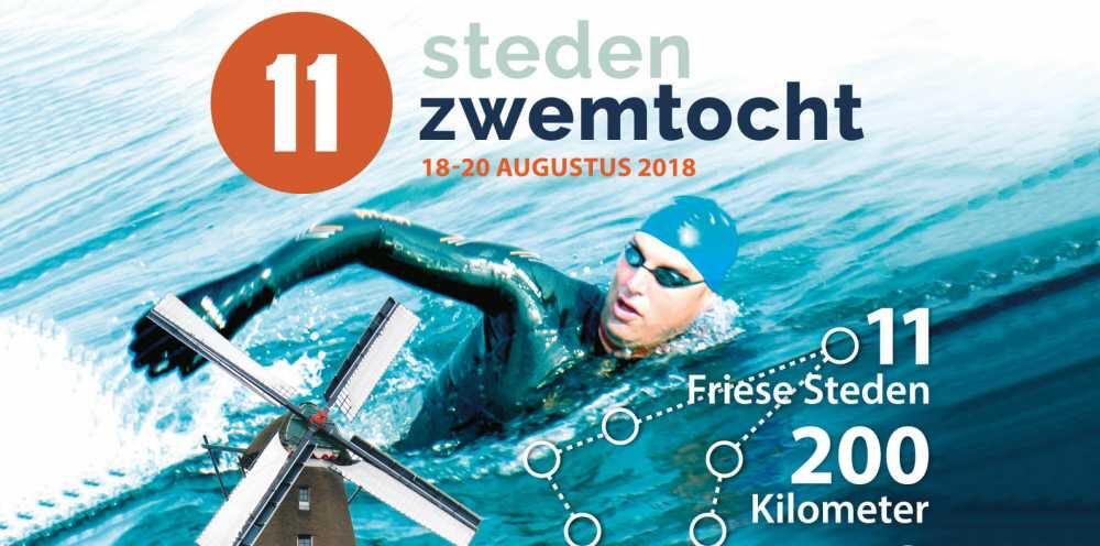 [18 aug] d'ELFT-trimzwemmer Joost zwemt mee met Maarten van der Weijden in de 11-stedenzwemtocht