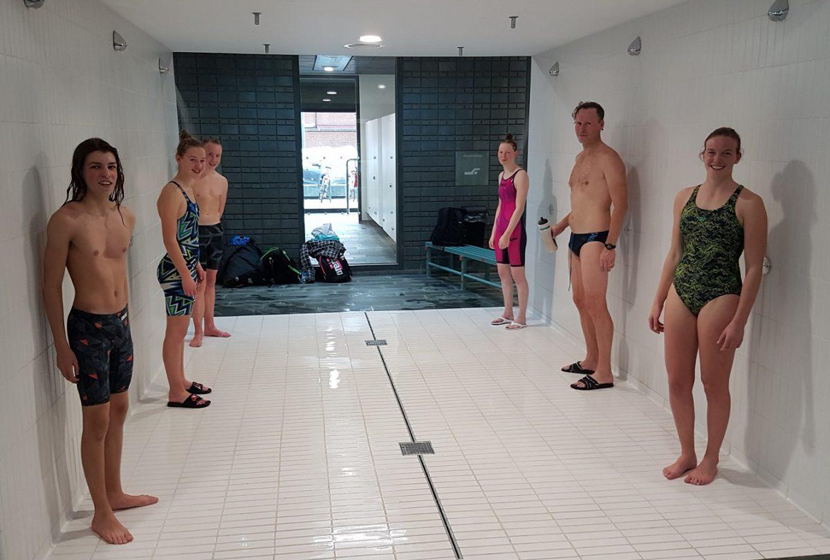 De zes zwemmers die het jaar afsloten op de 800m vrije slag