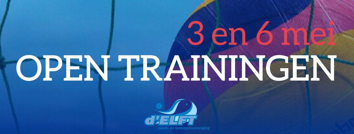 [3+6 mei] Open trainingen waterpolo bij d'ELFT